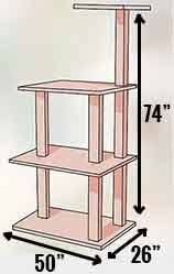 armarkat a4701 cat tree dimensions