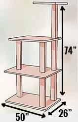 armarkat a4701 cat tree dimensions